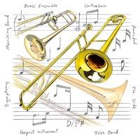 Little Snoring Gifts: Fridge Magnet - Trombone
