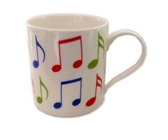 Little Snoring Cards & Gifts Allegro Mug Music Notes  Bone China  Multi-Colour  12 x 10 x 9 cm