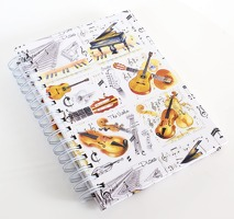 Little Snoring Gifts: A6 Hardback Lined Pages Notebook - Instrument Design