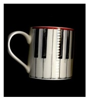 Fine China Mug - Piano Keys Design: Mug