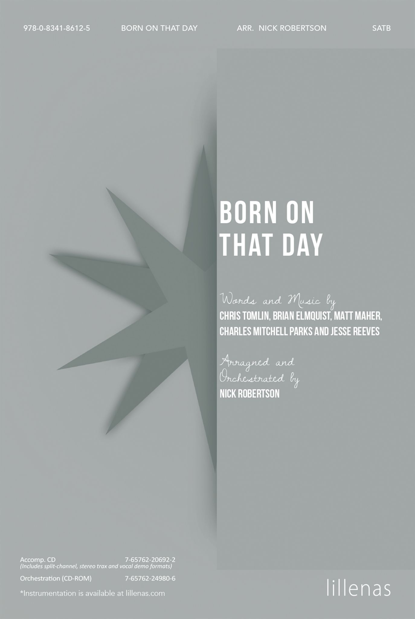 Born On That Day: SATB: Vocal Score