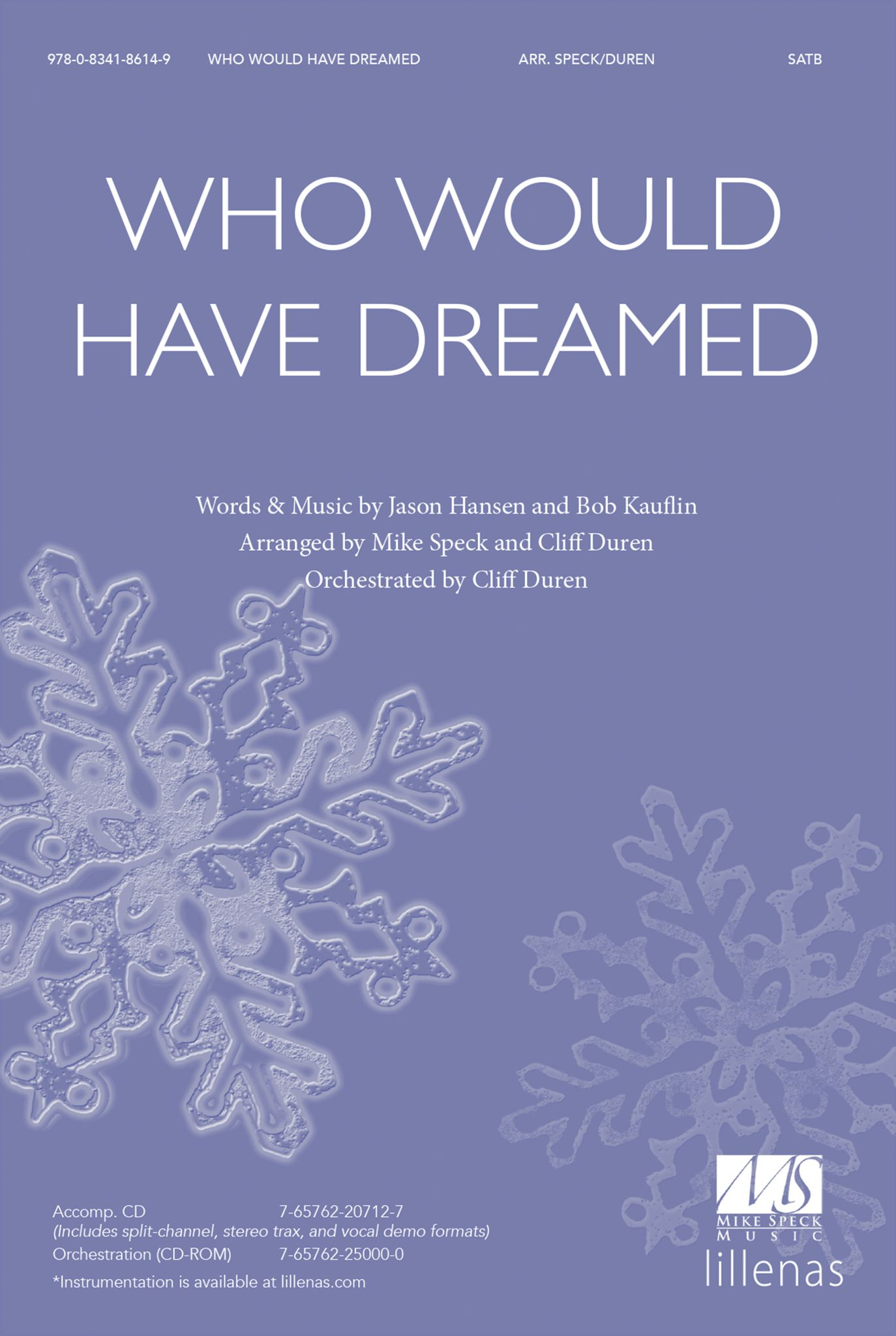 Who Would Have Dreamed: SATB: Vocal Score