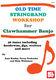 Jane Keefer: Old Time Stringband Workshop For Clawhammer Banjo: Banjo
