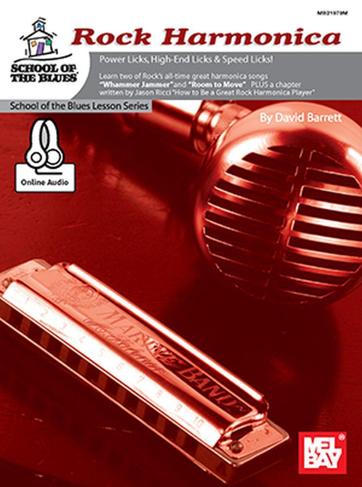 David Barrett: Rock Harmonica Book With Online Audio: Harmonica: Instrumental