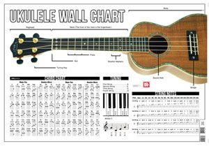 Collin Bay: Ukulele Wall Chart: Instrumental Reference