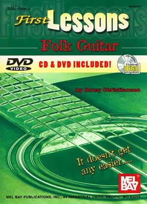 Corey Christiansen: First Lessons Folk Guitar Book/Cd/Dvd Set: Guitar: