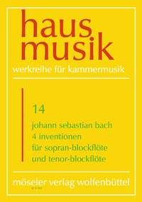 Johann Sebastian Bach: 4 Inventionen: Recorder: Score