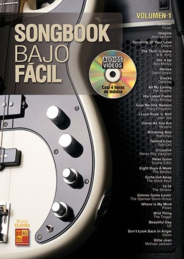 Bruno Tejeiro: Songbook Bajo Fácil - Volumen 1: Bass Guitar: Mixed Songbook