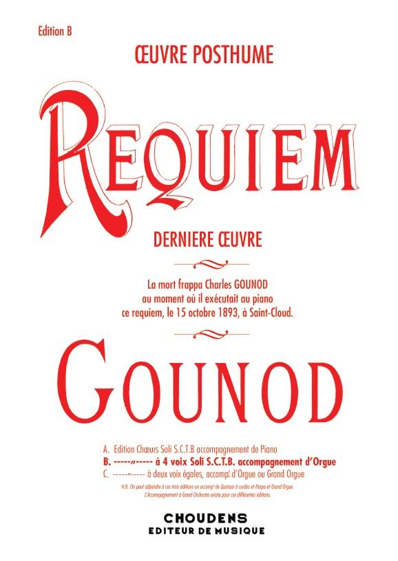Charles Gounod: Requiem: Vocal Ensemble: Vocal Score