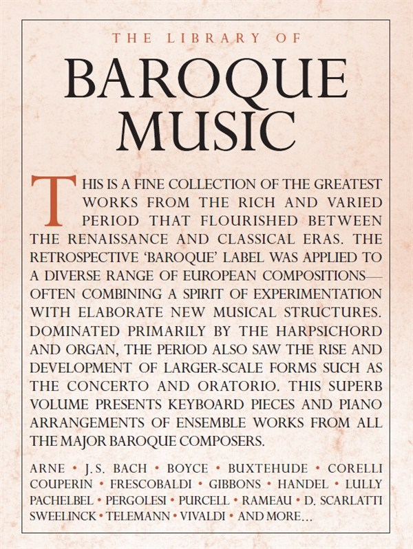 The Library Of Baroque Music: Piano: Mixed Songbook