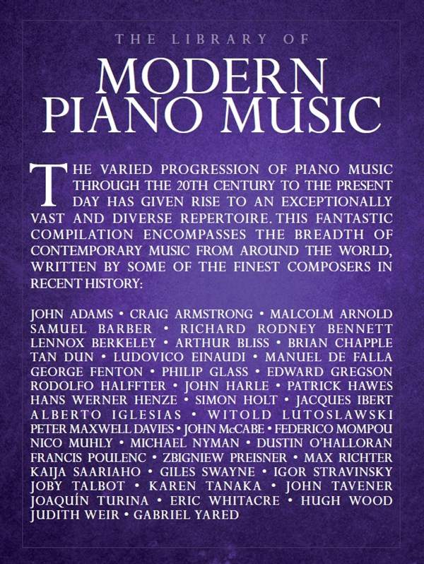 The Library Of Modern Piano Music: Piano: Mixed Songbook