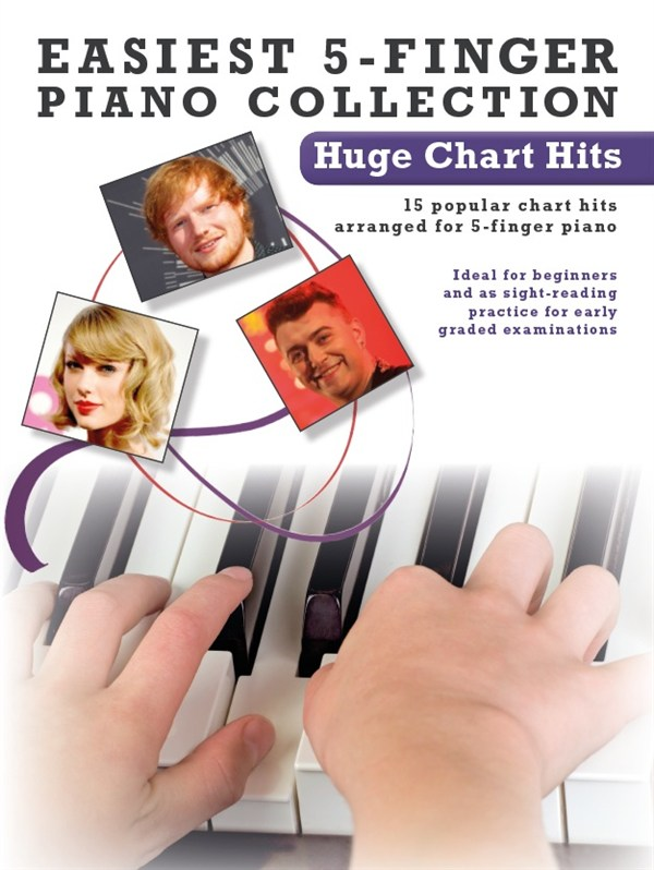 Easiest 5-Finger Piano Collection: Hugh Chart Hits: Piano: Mixed Songbook