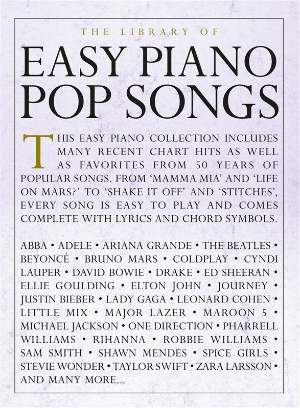 The Library Of Easy Piano Pop Songs: Piano: Mixed Songbook