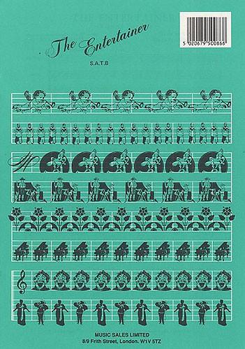 Scott Joplin: Entertainer- Ragtime Novelty: SATB: Vocal Score
