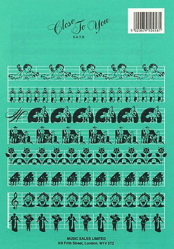 Burt Bacharach: Close to you: SATB: Vocal Score