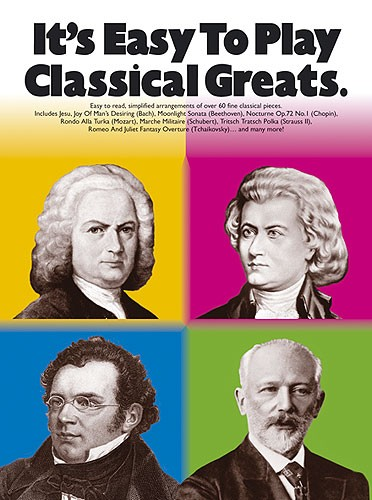 It's Easy To Play Classical Greats: Piano: Instrumental Album