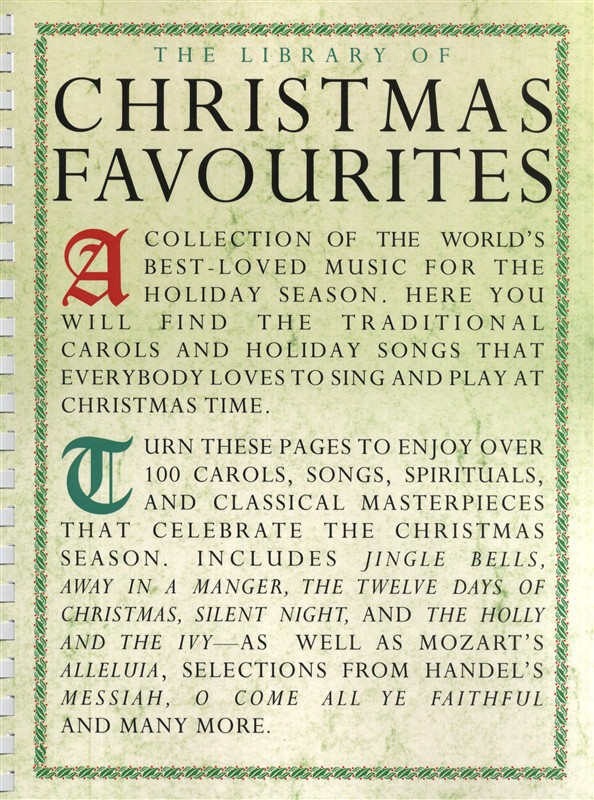 The Library Of Christmas Favourites: Piano  Vocal  Guitar: Mixed Songbook