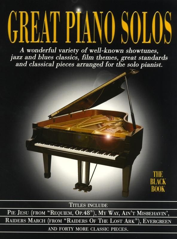 Great Piano Solos - The Black Book: Piano: Instrumental Album