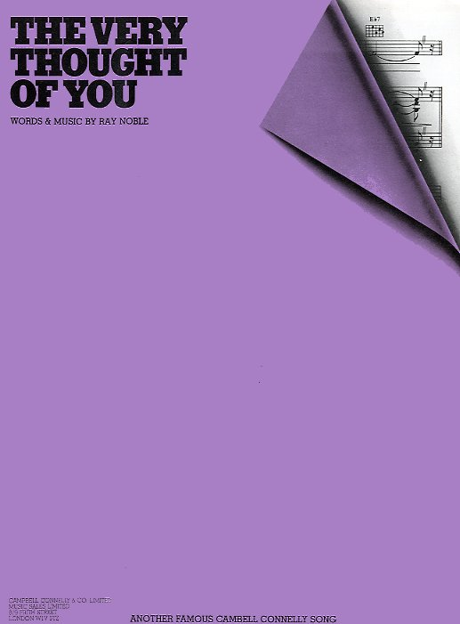 Ray Noble: The Very Thought Of You: Piano  Vocal  Guitar: Single Sheet