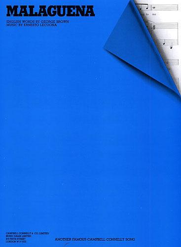 Ernesto Lecuona: Malaguena: Piano  Vocal  Guitar: Single Sheet