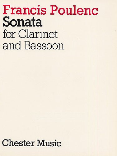 Francis Poulenc: Sonata For Clarinet And Bassoon: Wind Duet: Score