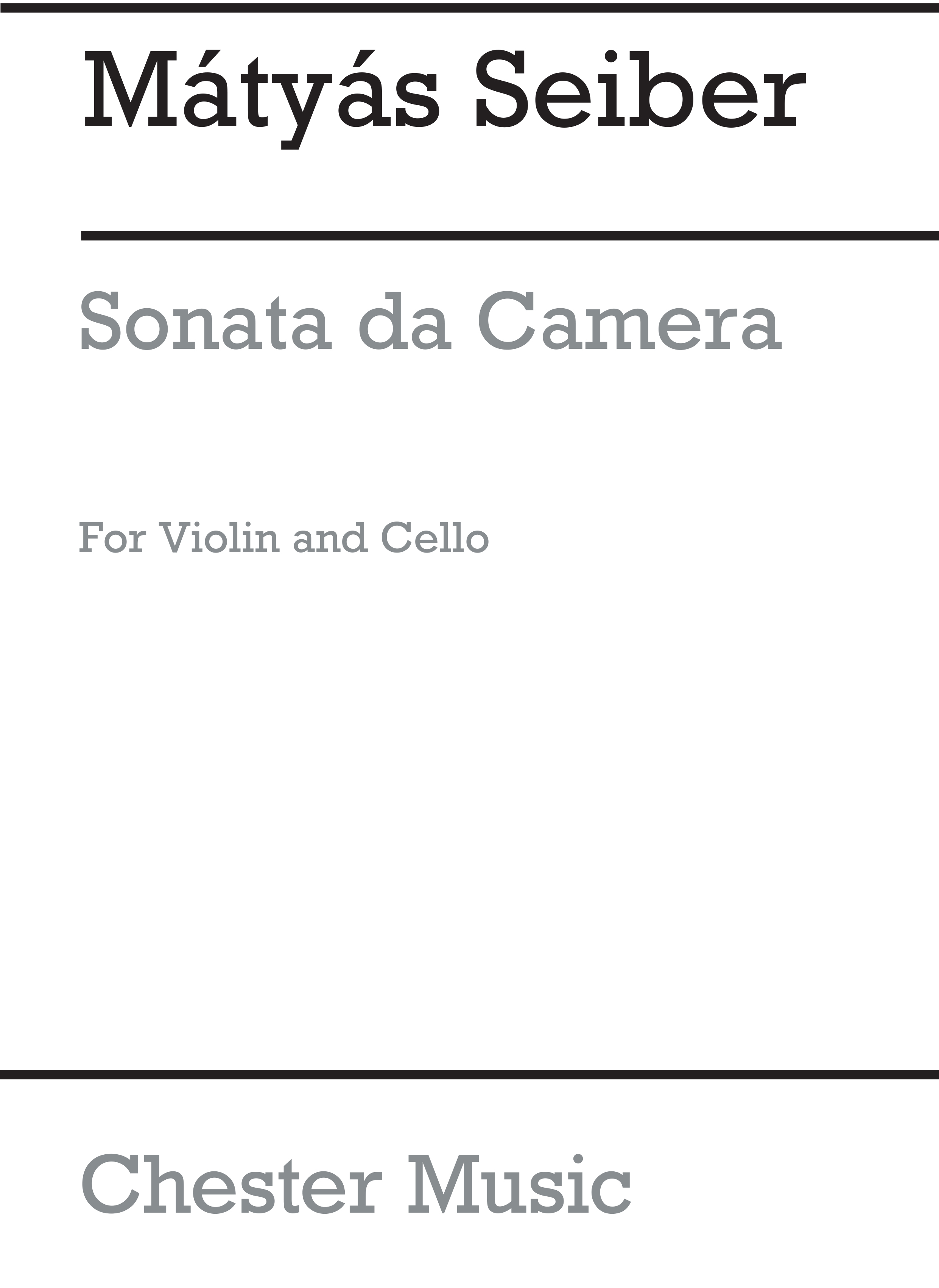 Matyas Seiber: Sonata Da Camera (Players' Score): Violin & Cello: Instrumental