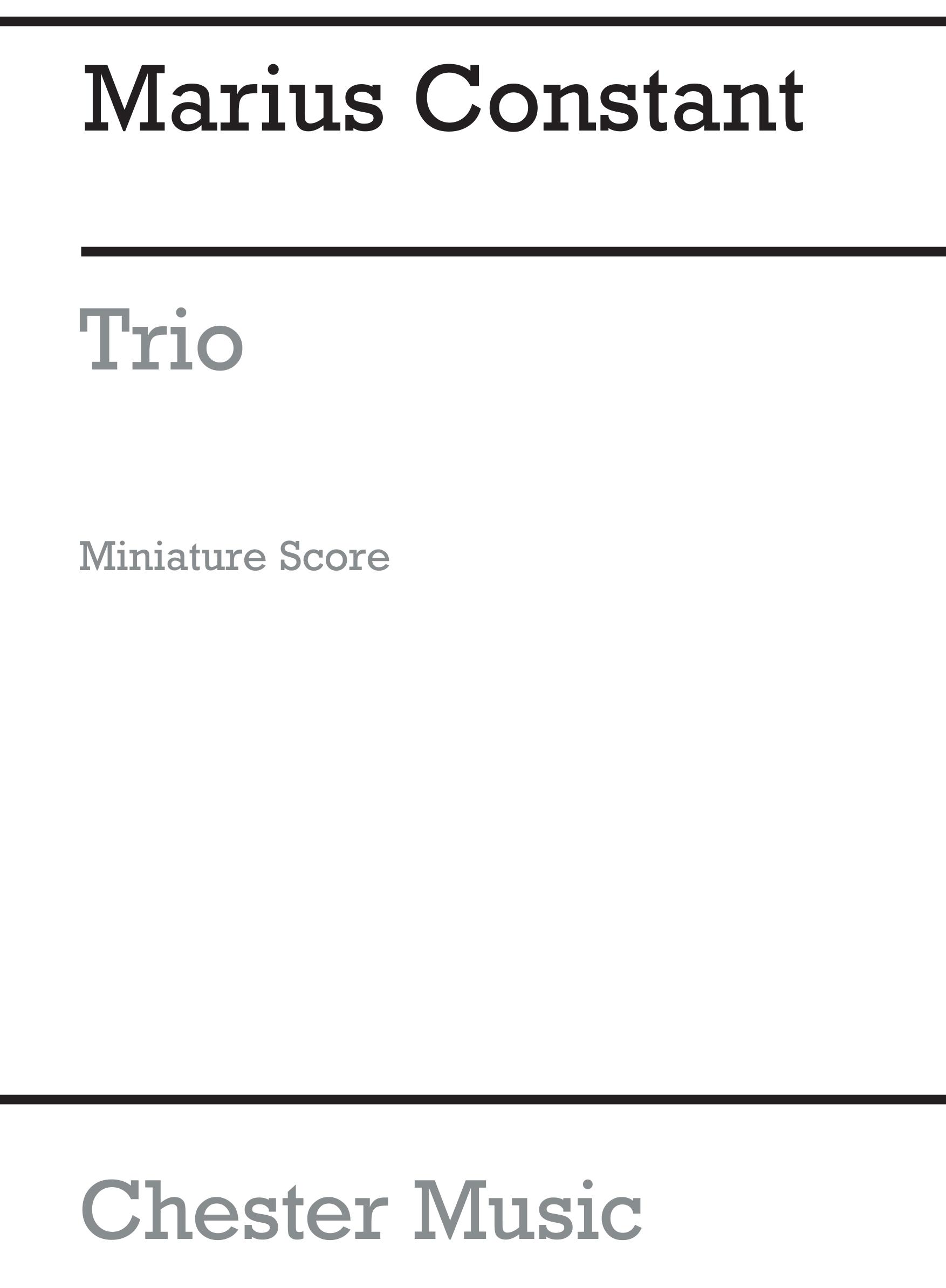 Marius Constant: Trio: Chamber Ensemble: Score