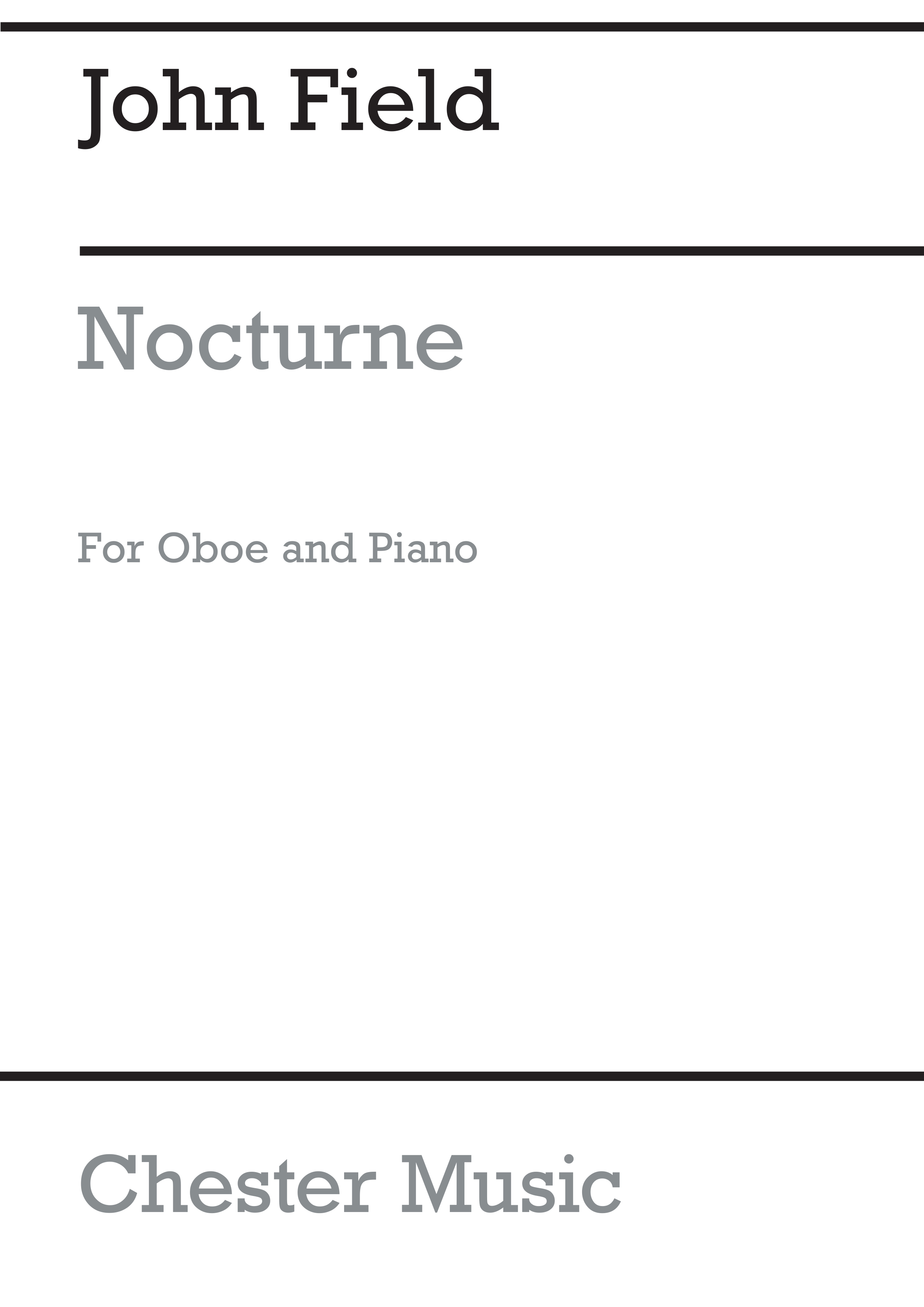 John Field: Nocturne for Oboe and Piano: Oboe: Instrumental Work