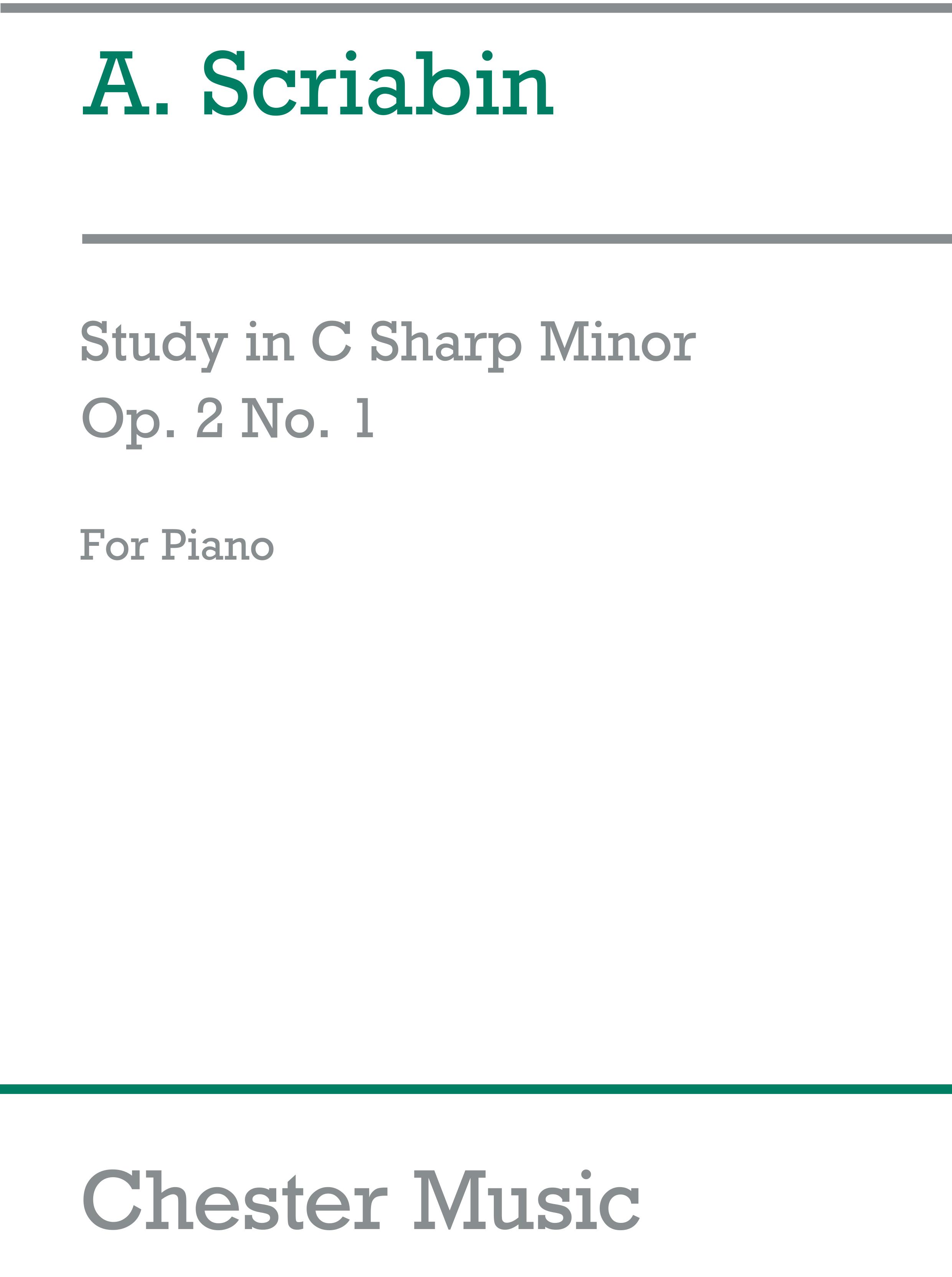 Alexander Scriabin: Etude In C Sharp Minor Op. 2/1 (Piano): Piano: Instrumental