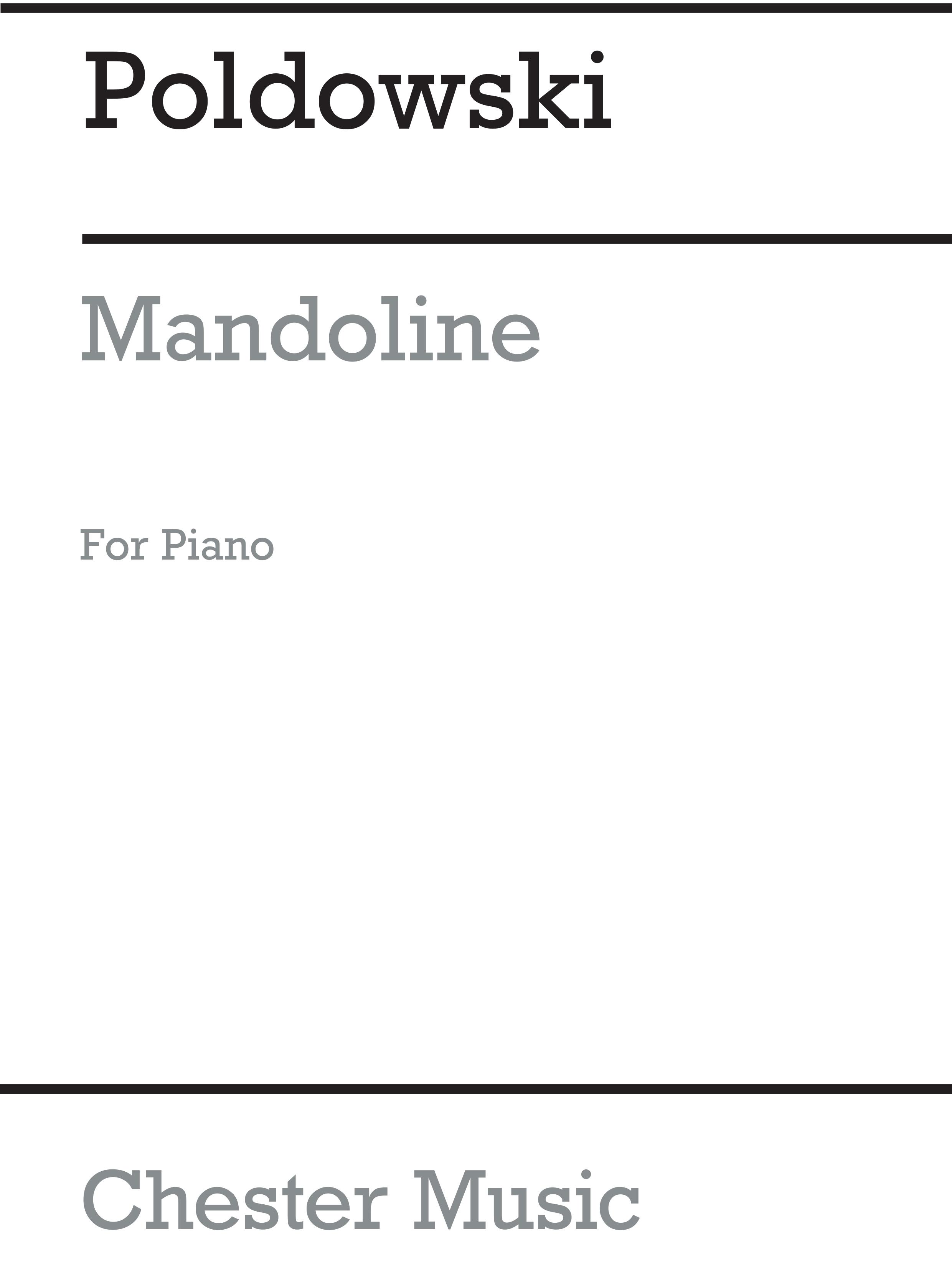 Pirfano: Mandoline for Voice with Piano acc.: Voice: Instrumental Work