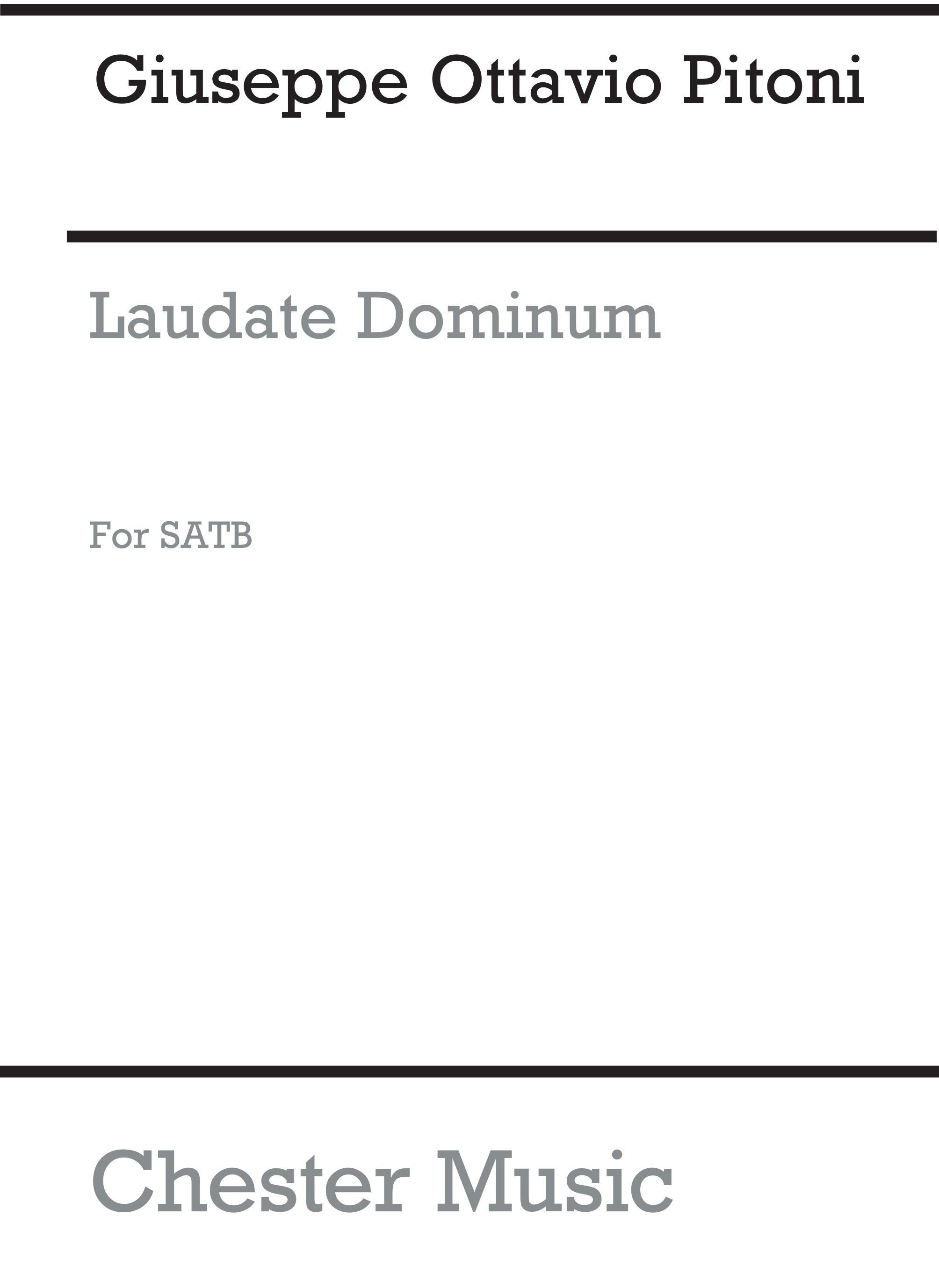 Giuseppe Ottavio Pitoni: Laudate Dominum (Steele) Satb: SATB: Vocal Score