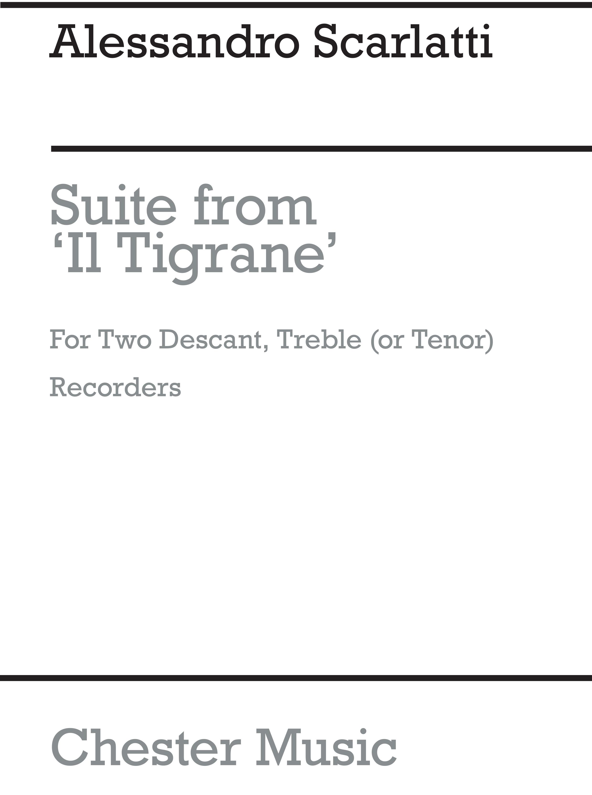 Alessandro Scarlatti: Suite (Il Tigrane): Descant Recorder: Score