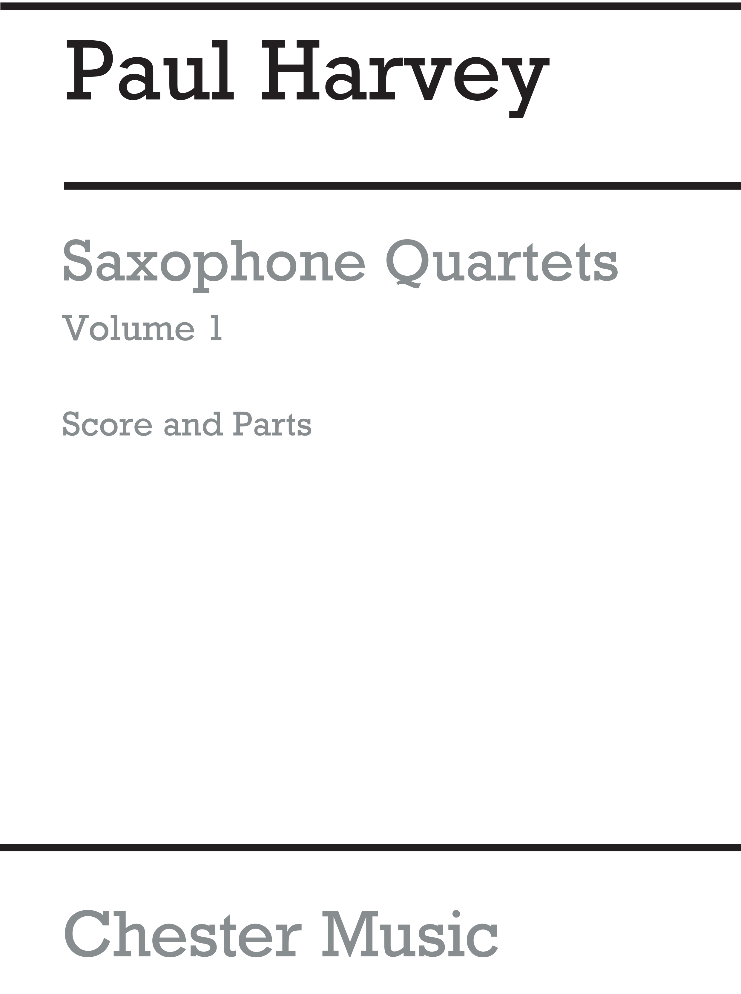 Peter Harvey: Saxophone Quartets Volume 1: Saxophone Ensemble: Instrumental Work