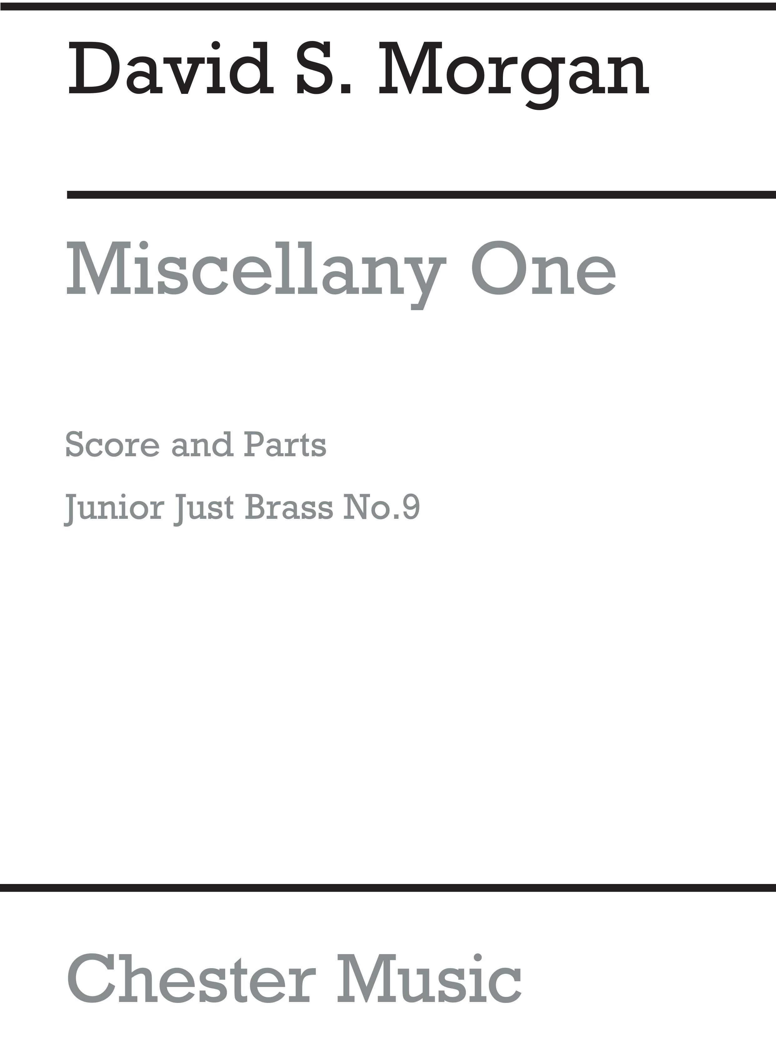 David S. Morgan: Miscellany One: Brass Ensemble: Score and Parts
