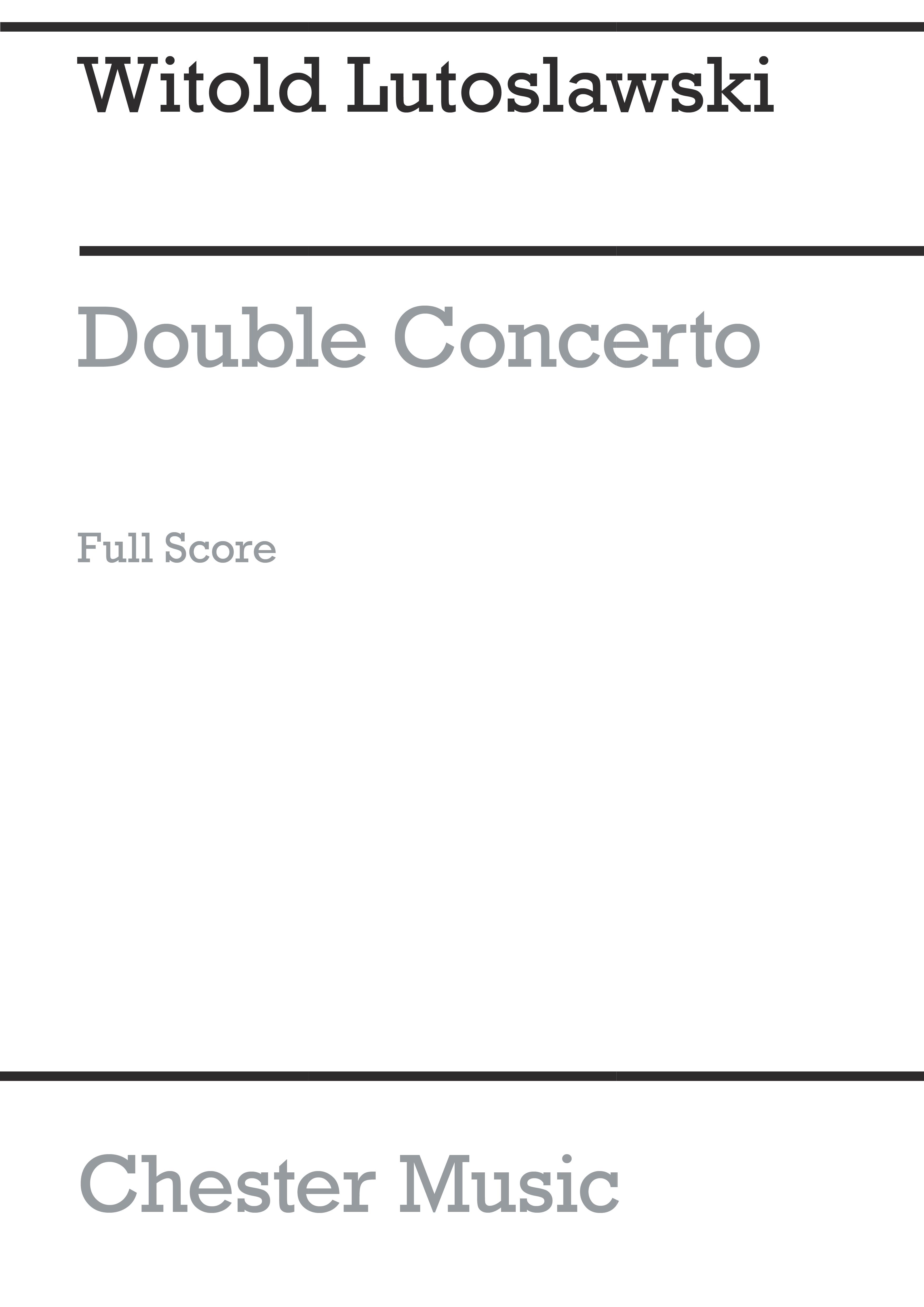 Witold Lutoslawski: Double Concerto: Harp: Score