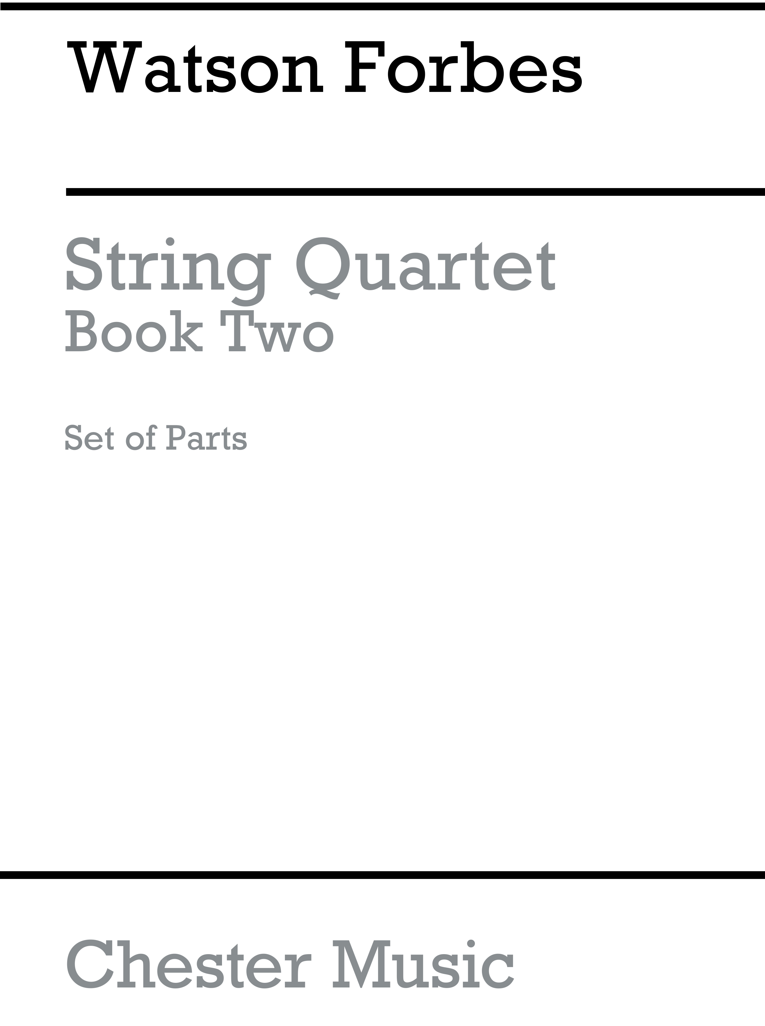 Watson Forbes: Easy String Quartets Book 2 (Parts Only): String Quartet: Parts