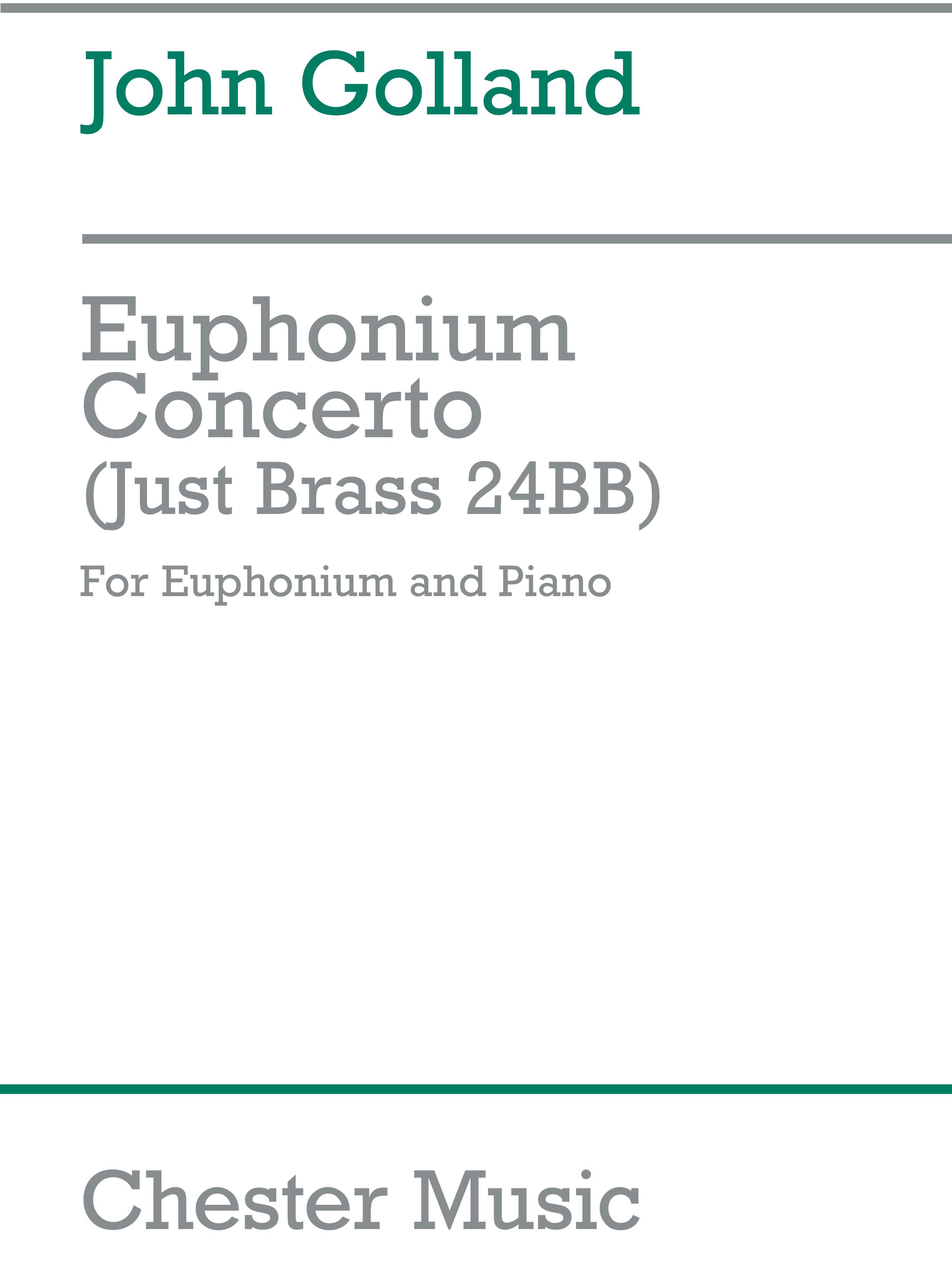 John Golland: Concert Euphonium: Euphonium: Instrumental Work