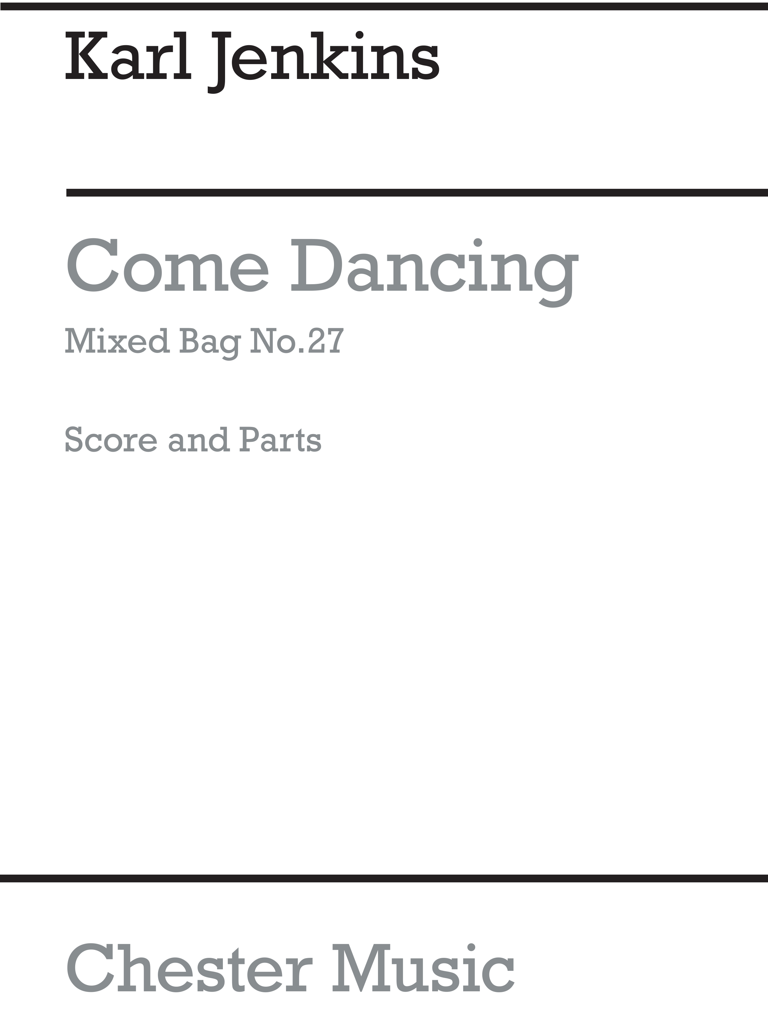 Karl Jenkins: Come Dancing: Wind Ensemble: Score and Parts