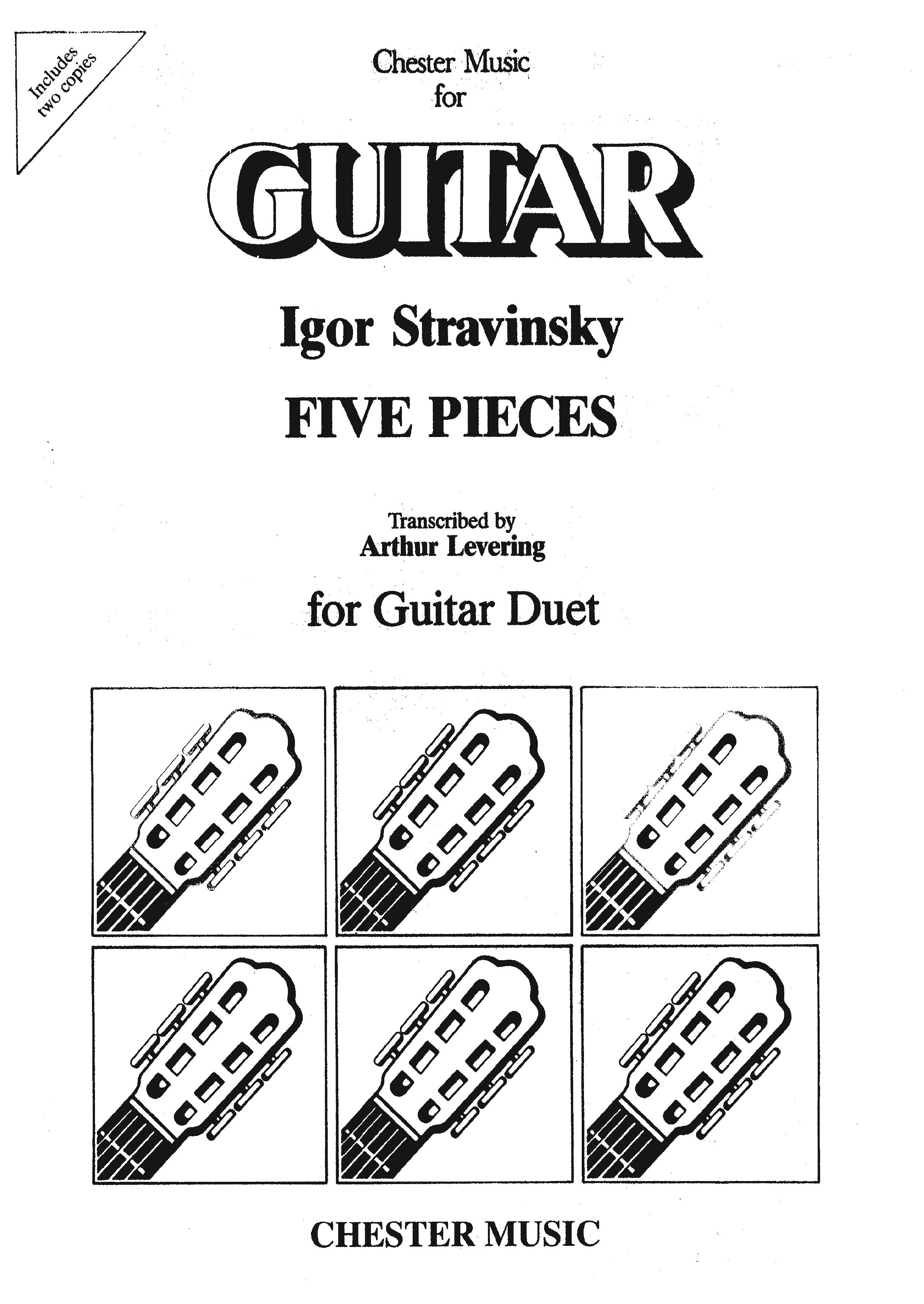 Igor Stravinsky: Five Pieces For Guitar Duet: Guitar: Instrumental Album