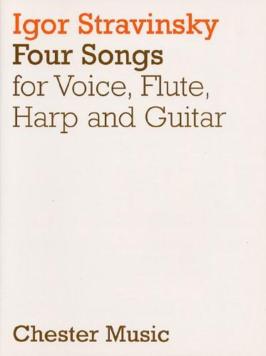 Igor Stravinsky: Four Songs: Chamber Ensemble: Score