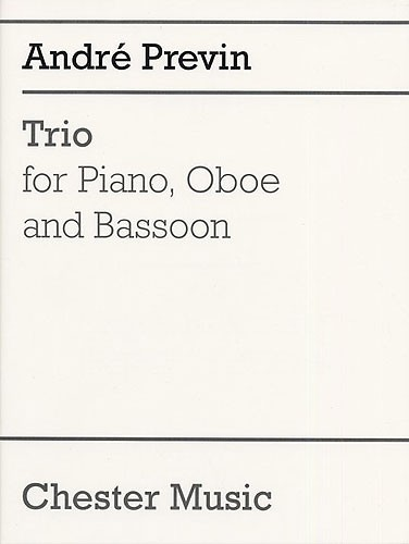 André Previn: Trio For Piano  Oboe and Bassoon: Chamber Ensemble: Score and
