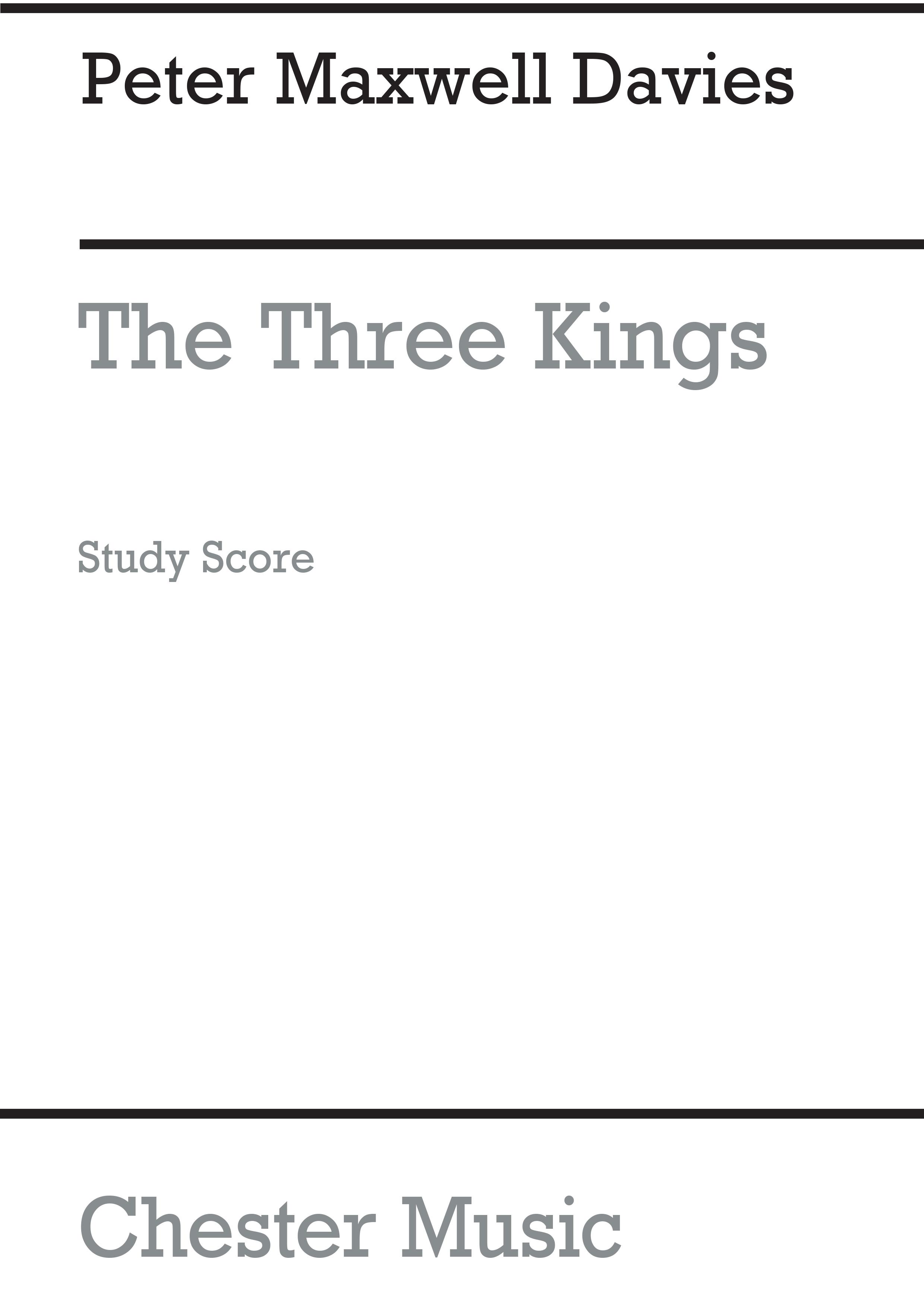 Peter Maxwell Davies: The Three Kings: SATB: Score