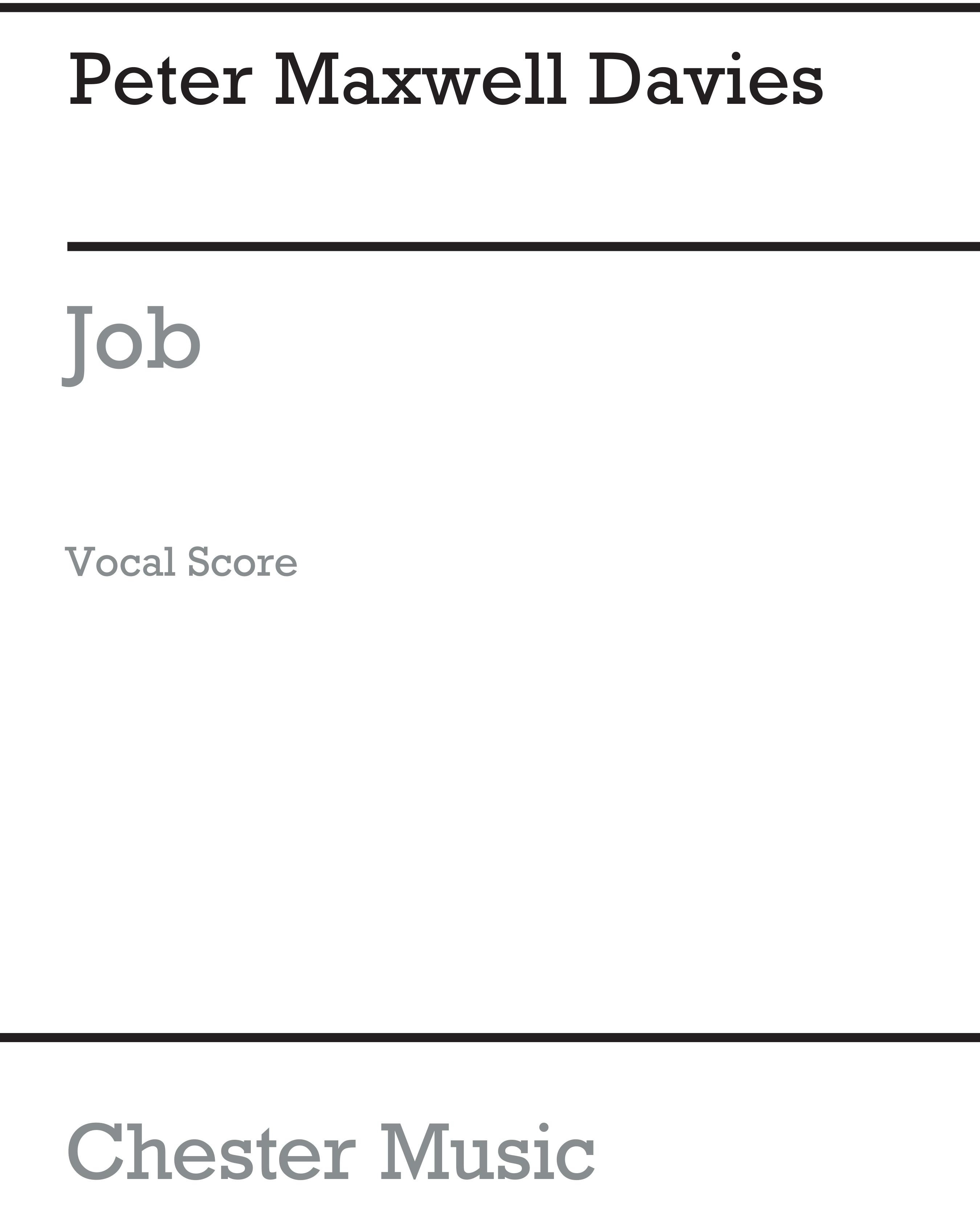 Peter Maxwell Davies: Peter Maxwell Davies: SATB: Vocal Score