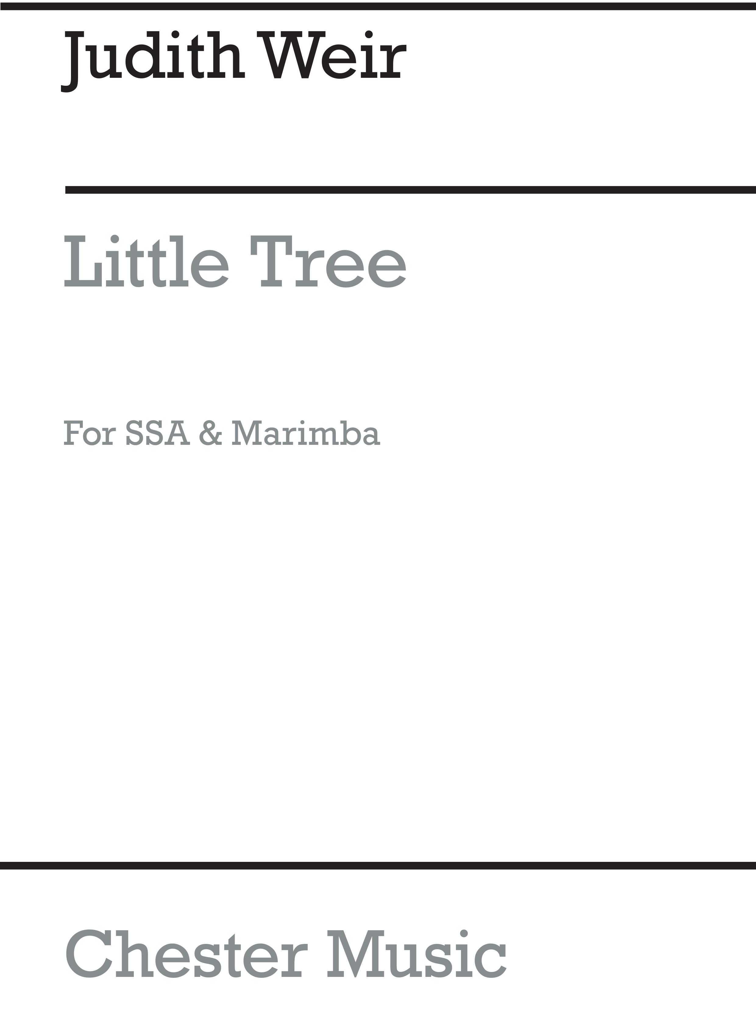 Judith Weir: Little Tree (Marimba Solo Part): Marimba: Part