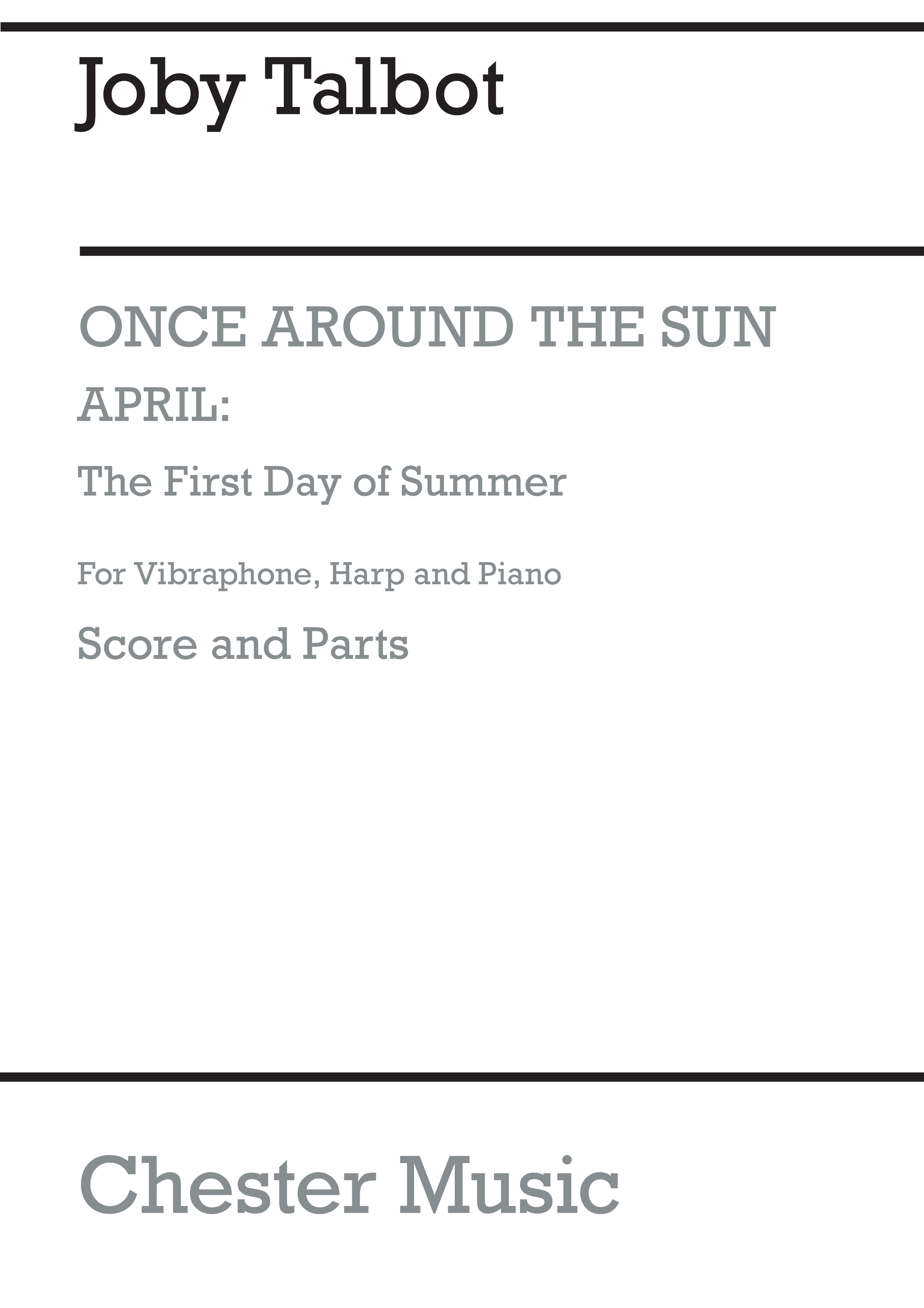 Joby Talbot: First Day Of Summer: Chamber Ensemble: Score and Parts