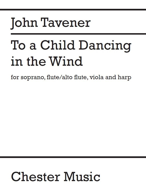John Tavener: To A Child Dancing In The Wind: Flute & Viola: Parts
