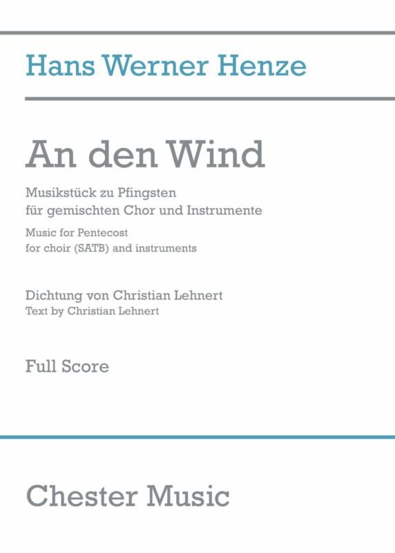 Hans Werner Henze: An Den Wind (Full Score): SATB: Score