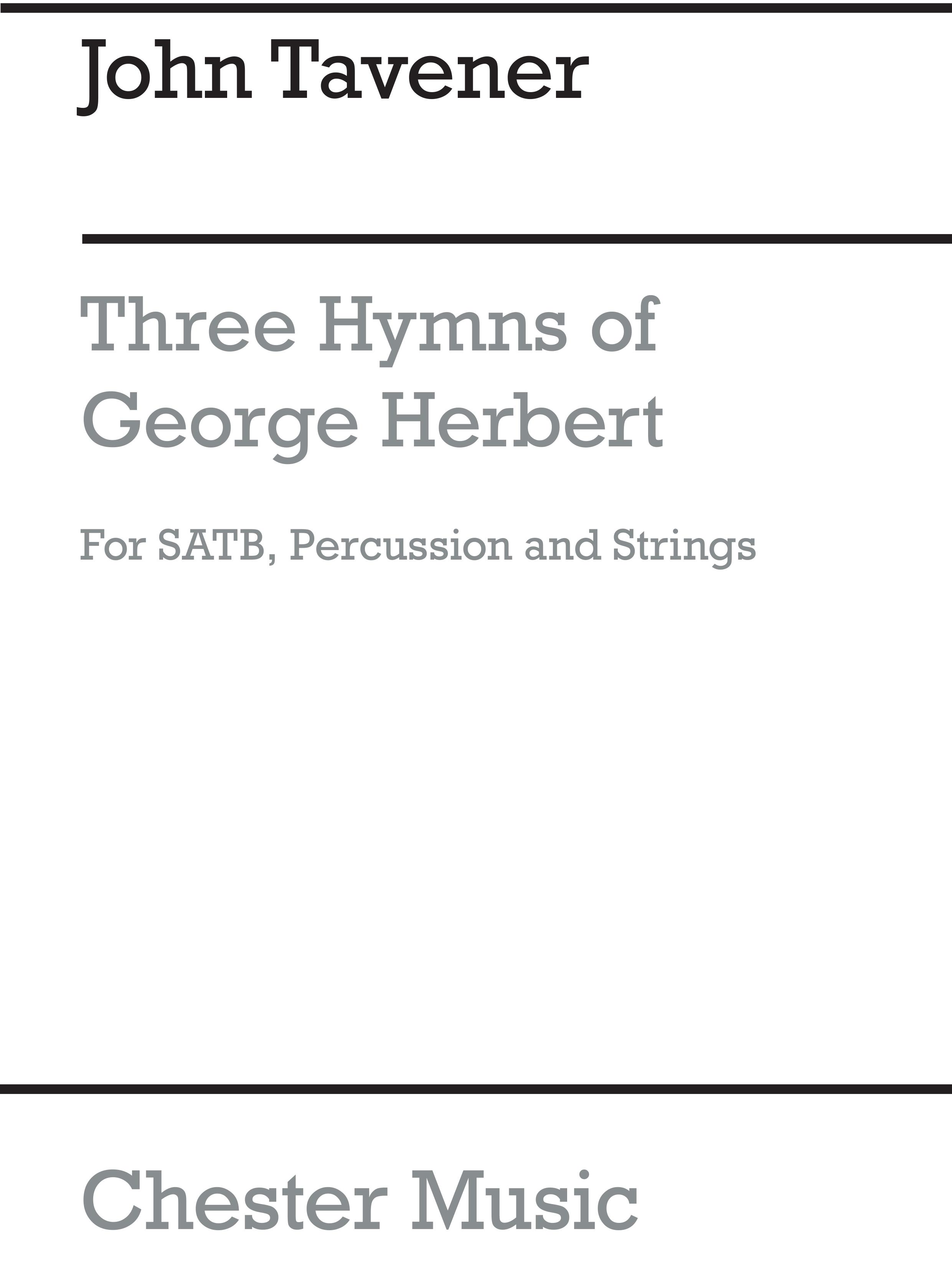 John Tavener: Three Hymns Of George Herbert: SATB: Score