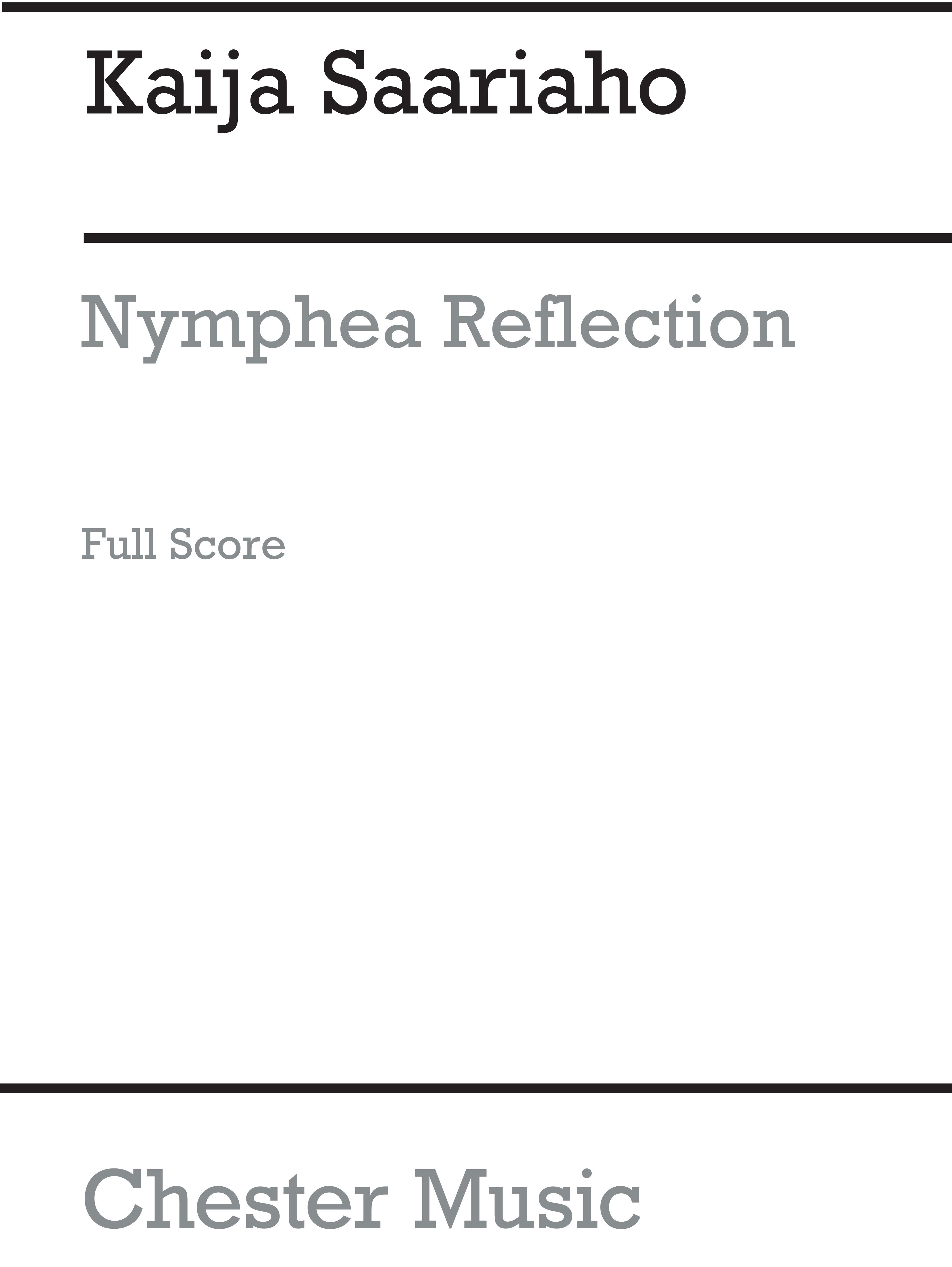Kaija Saariaho: Kaija Saariaho: Nymphea Reflection: String Orchestra: Score