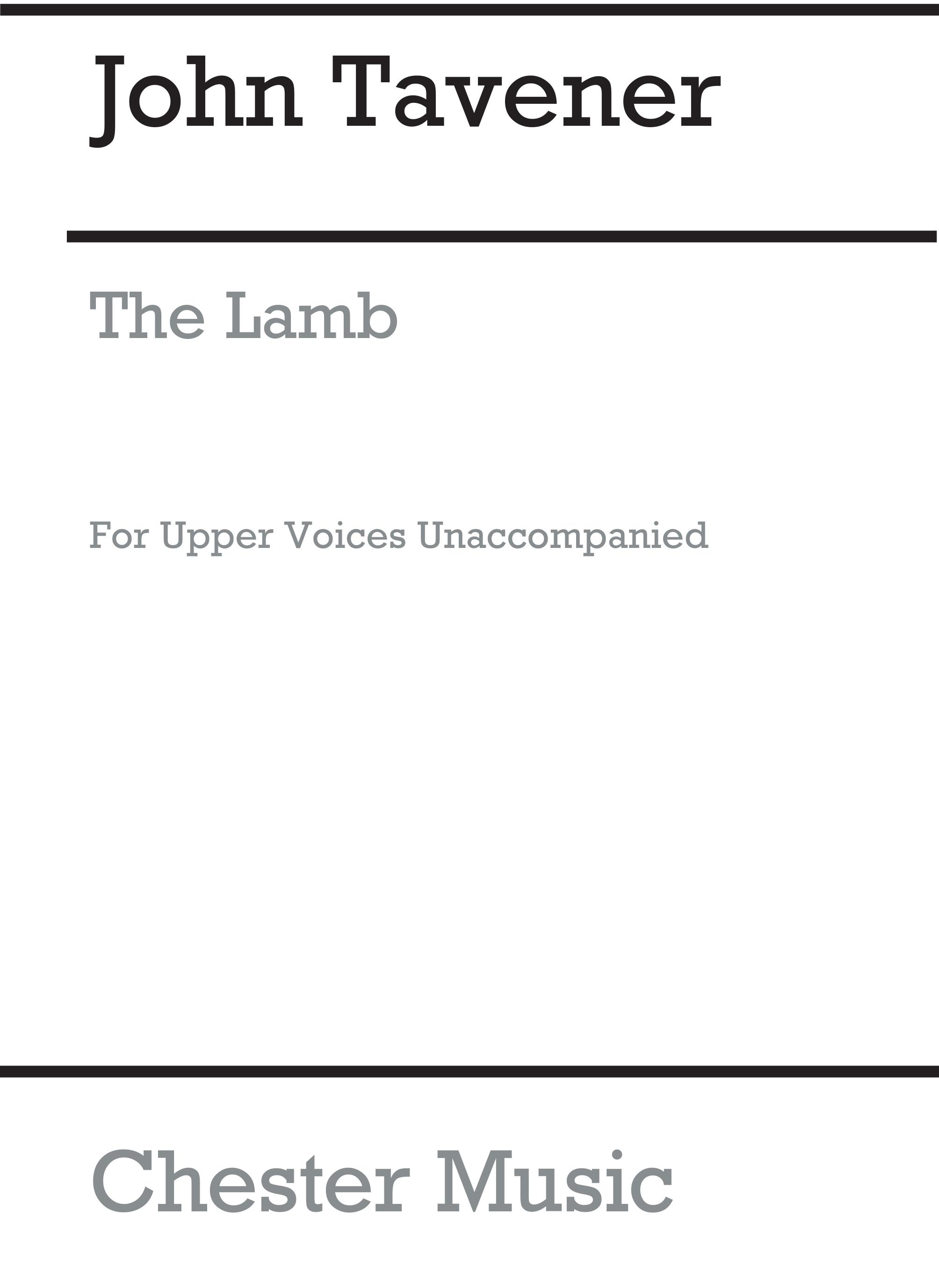 John Tavener: The Lamb: SSAA: Vocal Score